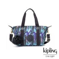 【KIPLING】渲染潑墨金點印花手提側背包-ART MINI