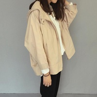 New Products bo feng yi Female Cloak Wind Spring And Summer Hooded Coat Loose Short Bat Sleeve Students Korean Style Versatile Leisure
