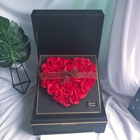 Surprise Birthday Gift Artificial Rose Soap Flower Gift Box Home Decoration Valentine's Day to Send Girl'S Best Friend Wife
