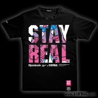 STAYREAL X Reebok經典PUMP Tee(黑標版型/黑色) S號
