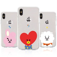 ★ Line Friends ★ BT21 Jell Hard Case ★ iPhone X / iPhone 8 / iPhone 7 ★ Galaxy Note8 / S9 / S8 ★