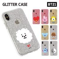 【BT21 x LINE FRIENDS】 BTS BangTan iPhone Galaxy Glitter Jelly Case GIFT!