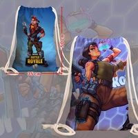 longchuang 12 Styles Fortnite Fans Canvas Sports Bags Gym Sack Gaming Casual Gym Swimming Books Fortnite Drawstring Bag