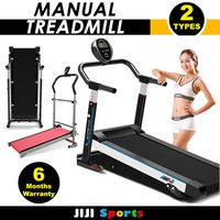 ◣Foldable Manual Treadmill◥   Running Fitness Machine / Manual Closest to Jogging / Walking Motions
