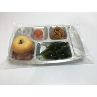 餐盤套盤一次性專用袋袋食堂快餐廳飯店分格燒烤盤餐盤袋透明
