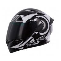 SBK SV DART 黑白 彩繪 /可樂帽/ 全罩式安全帽 /雙D扣/內襯 /流線型外觀 /加贈鏡片(歐樂免運)