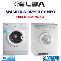 ELBA - 6KG 7KG WASHER DRYER COMBO - 2 YR WARRANTY- FREE STACKING KIT - DELIVERY AND INSTALLATION