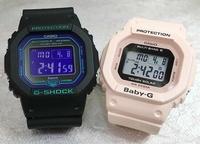 支持戀人們的G打擊一對表G-SHOCK一對手錶GSHOCK G打擊卡西歐男女兼用GW-B5600BL-1JF BGD-5000-4BJF數碼電波太陽能禮物禮物包免費留言卡g-shock的聖誕禮物 Jewelry time Murata of watch