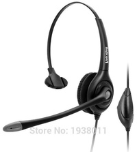 Volume+Mute +RJ9/RJ10 connector headset wtih QD (Quick Disconnect) cable Noise canceling Telephone headset call center headset