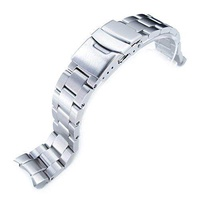 Seiko Replacement by MiLTAT 20mm Super Oyster Watch Bracelet for Seiko SKX013, Brushed 316L Stainless Steel, Basic
