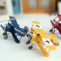 復古斑駁風金屬鐵皮飛機擺飾 裝飾品【BlueCat】【JT1391】