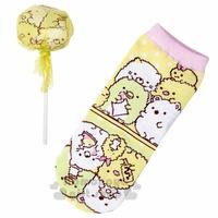 〔小禮堂〕角落生物 成人及踝襪《黃.棒棒糖》22-24公分.棉襪.短襪.隱形襪