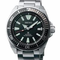 Made In Japan Brand New 100% Authentic Seiko Prospex Samurai In Black Dial & Metal Bracelet Automatic Men's Diver Watch SRPB51J