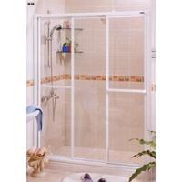 3mm PS板一字三門 有框 一字型   淋浴拉門 乾溼分離 衛浴設備 S7301