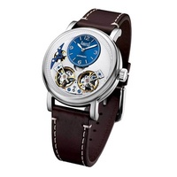 Arbutus Open Heart AR1804SWF Anolog Automatic Brown Leather Men Watch