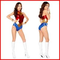 現貨神奇女俠wonderwoman正義聯盟服裝cos神力女超人服裝游戲制服