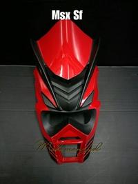 หน้ากาก ซามุไร สำหรับรถจักรยานยนต์ MSX SF สีแดง ดำด้าน