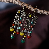 women earring DIY copper alloy flowers tud brincos recommend beautiful vintage jewelry accessories