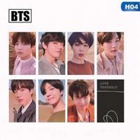 7Pcs/Set KPOP BTS Bangtan Boys Love Yourself Album Photo Card Photocard Gift H04