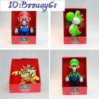 Super Mario Bros. 超級瑪利歐兄弟 馬裡歐 路易 超級瑪麗 瑪莉歐模型公仔 搪膠手辦 收藏玩偶