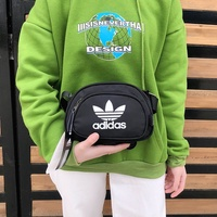adidas black waist bag messenger bag shoulder pockets issey miyake