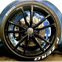 可開發票~輪胎字母貼P標 輪胎貼pirelli 套裝 可清洗 pzero倍耐輪胎P0