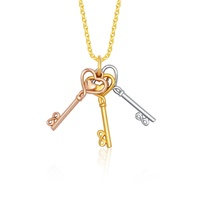 HAHA 916 Trio Keys Gold Pendant