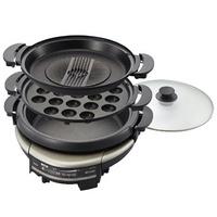【TIGER虎牌】5.0L三合一多功能電火鍋/烤盤 CQD-B30R