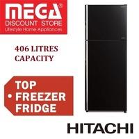 HITACHI R-VG480P8MS TOP FREEZER DESIGNER 2 DOOR FRIDGE 406L