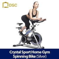CRYSTAL SPORT HOME GYM SPINNING BIKE (SILVER)
