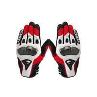 Moonar RS Taichi Leather Motorcycle Gloves Red/White
