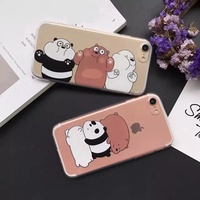 we bare bears case dirt-resistant cute cartoon animation phone case 1 mm tpu transparent cover