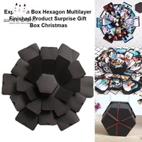 SBY Explosion Box Multilayer Surprise DIY Photo Album Hexagon For Birthday Christmas Gift