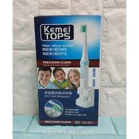 KEMEI TOPS 聲波震動感應式充電電動牙刷/清潔牙齒(附3刷頭)-24869074