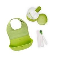 【Amour bébé】美國 OXO 門好好餵禮盒| 圍兜 + 研磨碗 + 隨行矽膠湯匙