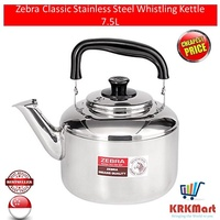 Zebra Classic Stainless Steel Whistling Kettle 7.5L