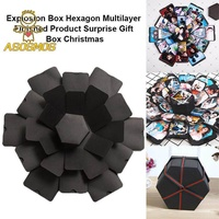 ASM Explosion Box Multilayer Surprise DIY Photo Album Hexagon For Birthday Christmas Gift