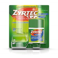 ▶$1 Shop Coupon◀  Zyrtec 24 Hour Allergy Relief Tablets, Antihistamine Allergy Medicine with 10 mg C