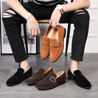 Amazon wish LAZADA leather belt buckle tide male suede shoes doug male taobao shoes