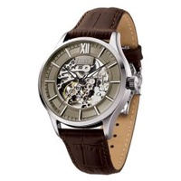 Arbutus Men's Leather Strap Watch AR901SFF