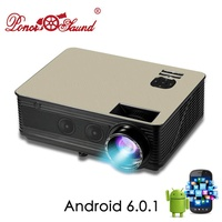 Poner Saund LEDM5 Projector Built-in HIFI Sound Optional Android 6.0 WiFi Bluetooth Support Full HD 1080P HDMI VGA USB Proyector - intl