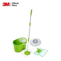 3M Scotch-Brite® SPIN BUCKET with 2in1 Microfiber Mop สก๊อตช์-ไบรต์® ถังปั่นพร้อมไม้ม็อบถูพื้นไมโครไฟเบอร์ ทูอิน วัน รีฟิล 4 หัว
