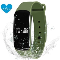 Padcod New C1 Fitness Tracker,Pedometer,Sleep Quality Monitor, Sedentary Reminder, Heart Rate Test, Blood Oxygen Detector, IP67 Water-resistant Smart Bracelet , Green