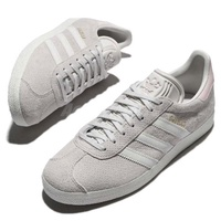 Japen-ADIDAS ORIGINALS GAZELLE W 灰粉 洞洞  愛迪達 麂皮 CQ2183 女鞋