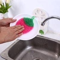 現貨 韓國創意手工鉤花草莓洗碗巾洗碗布 ▣FunQuick