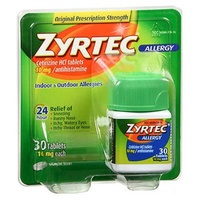 ▶$1 Shop Coupon◀  ZYRTEC TABLETS 10MG OTC 30