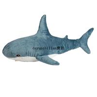 現貨宜家IKEA布羅艾宜家大鯊魚毛絨玩具,鯊魚寶寶靠枕抱枕禮物