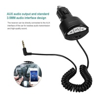 Bluetooth3.0 A2DP Car Music Hands-free 3.5mm AUX Receiver Stereo Audio Adapter USB 5V/2.1A
