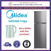 Midea MRD268 2 Door Fridge 254L + Kettle combo