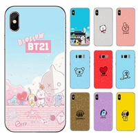 Trending Kpop BTS BT21 Dolls iphone Universal TPU Phone Case For Apple iPhone 8 7 6 6S Plus X XS MAX XR 5S SE and   Samsung S6 Edge S7 Edge S8 Plus S9 Plus Note 8 Note 9 Mobile phone model